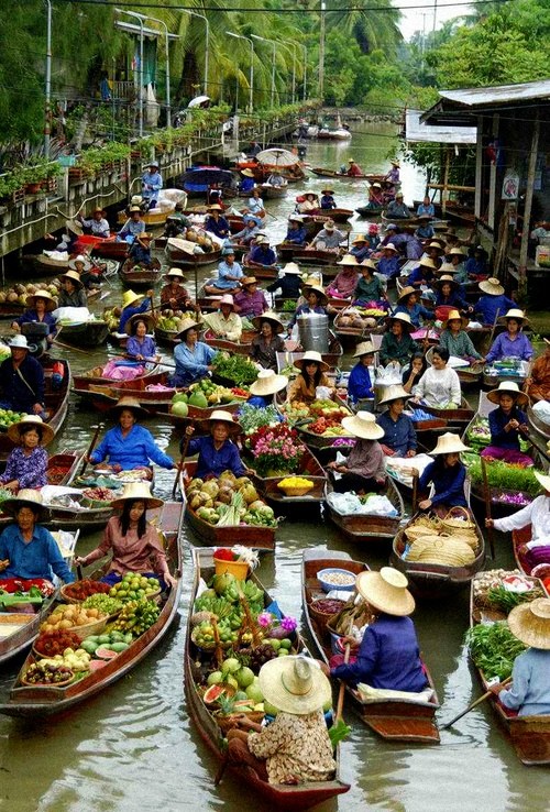 Floating Food Market, Bangkok